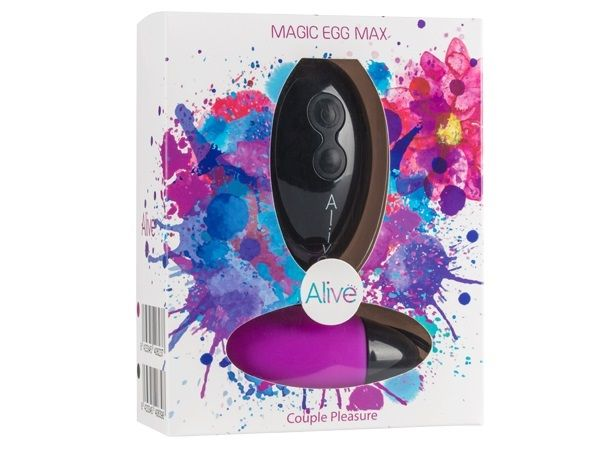 Фиолетовое виброяйцо Magic egg с пультом управления - фото 151806