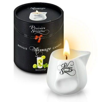 Массажная свеча с ароматом мохито Bougie de Massage Mojito - 80 мл.