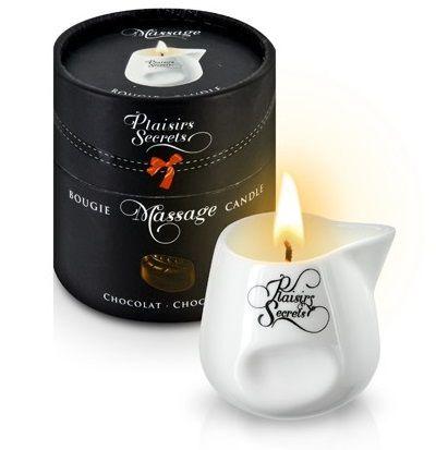 Массажная свеча с ароматом шоколада Bougie de Massage Gourmande Chocolat - 80 мл.