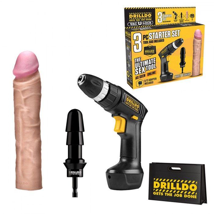 Секс-набор из 3 предметов DRILLDO STARTER SET 3 PIECE