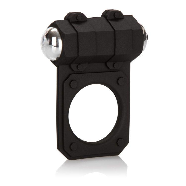Чёрное эрекционное кольцо с вибропулей Silicone Lovers Gear Enhancer - фото 137031