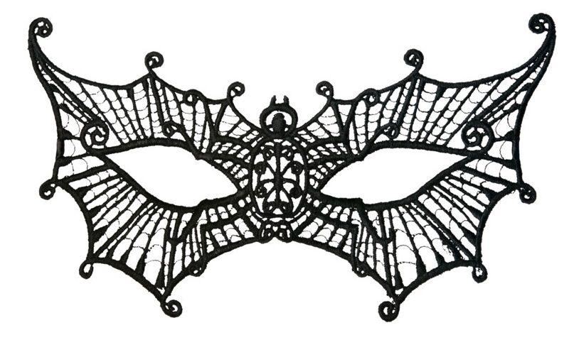 Нитяная маска в форме паутинки