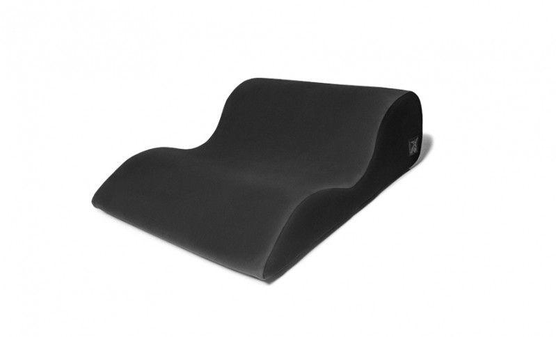 Чёрная большая подушка для любви Liberator Hipster с чехлом из вельвета