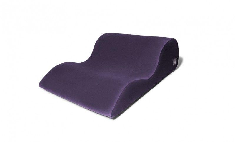 Фиолетовая большая подушка для любви Liberator Retail Hipster с чехлом из вельвета