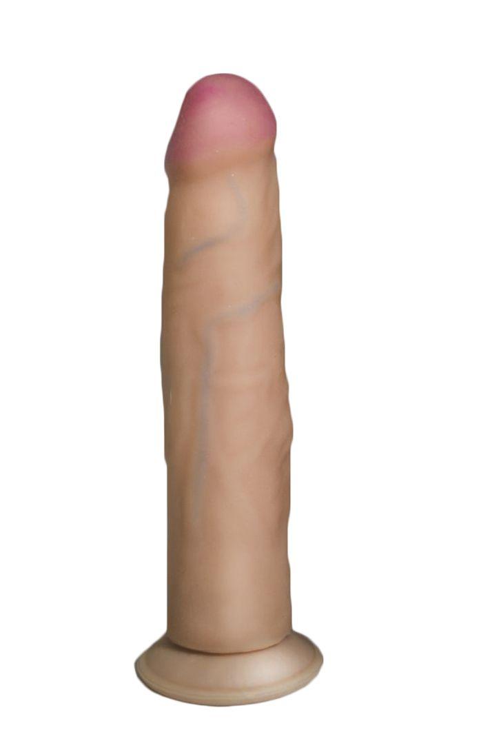 Фаллоимитатор HUMAN FORM с присоской - 21 см. - фото 198410