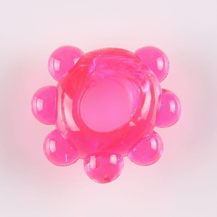 Розовое эрекционное колечко  Цветок  - фото 1666487