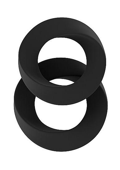Набор чёрных эрекционных колец SONO №24