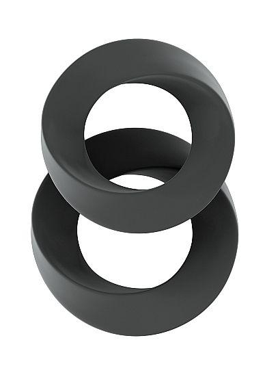 Набор серых эрекционных колец SONO №24 - фото 266577