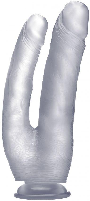 Телесный анально-вагинальный фаллоимитатор - 25,5 см.