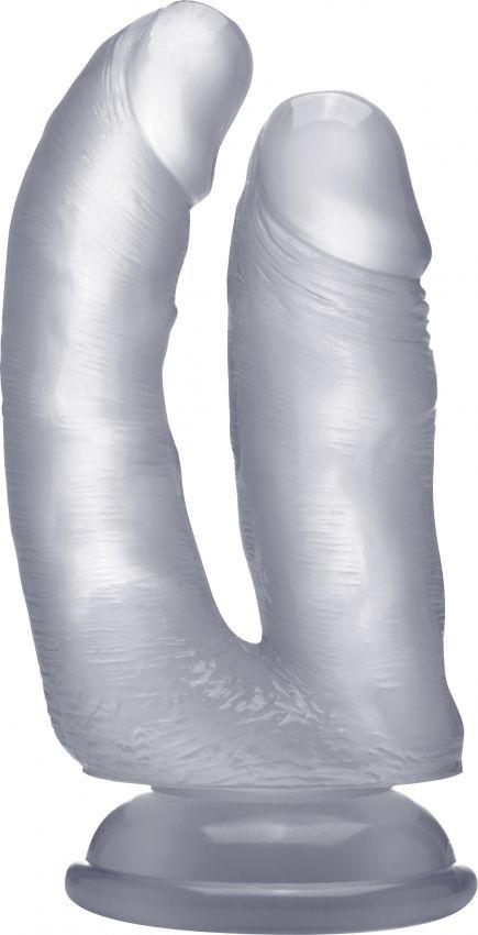 Прозрачный анально-вагинальный фаллоимитатор Realistic Double Cock 6,5 Inch - 16,5 см.