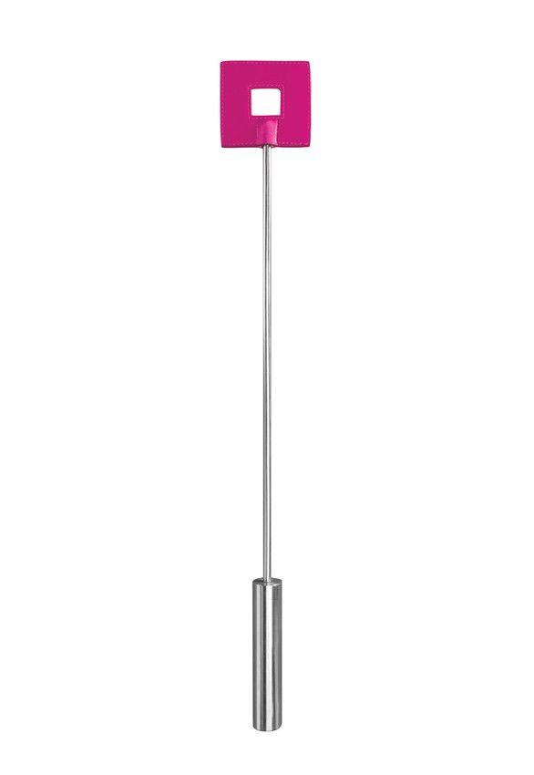 Розовая шлёпалка Leather Square Tiped Crop с наконечником-квадратом - 56 см.
