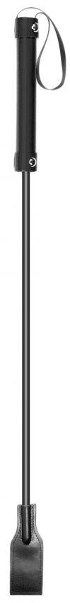 Чёрный стек Square Crop с прямоугольным шлепком - 66 см.