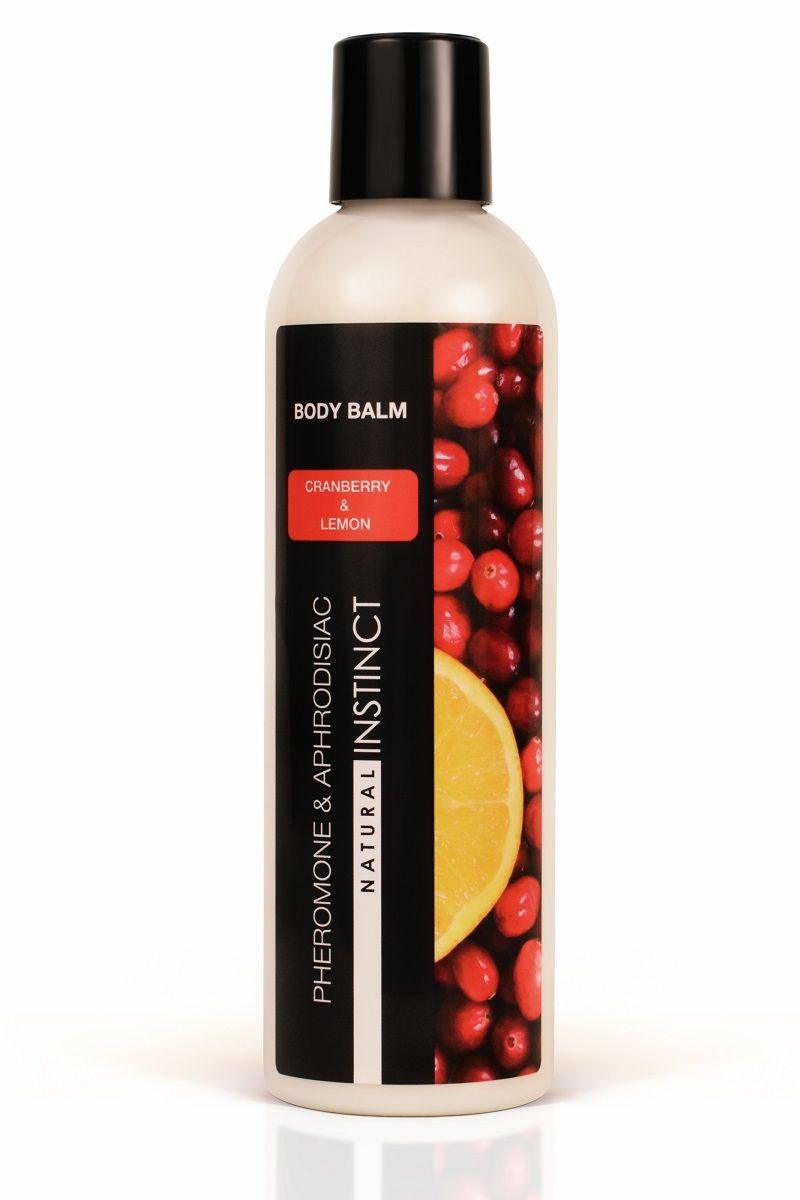 Бальзам для тела с феромонами Natural Instinct с ароматом клюквы и лимона - 250 мл.
