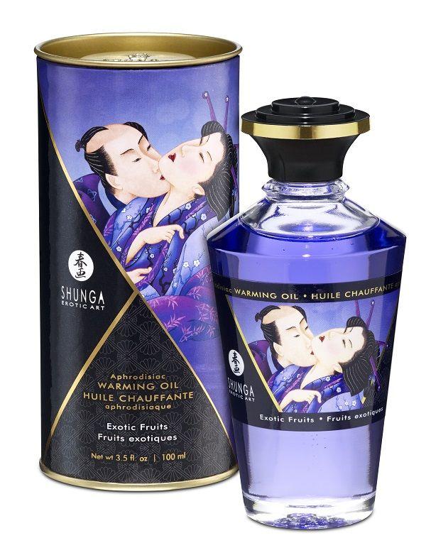 Массажное интимное масло с ароматом экзотических фруктов - 100 мл.