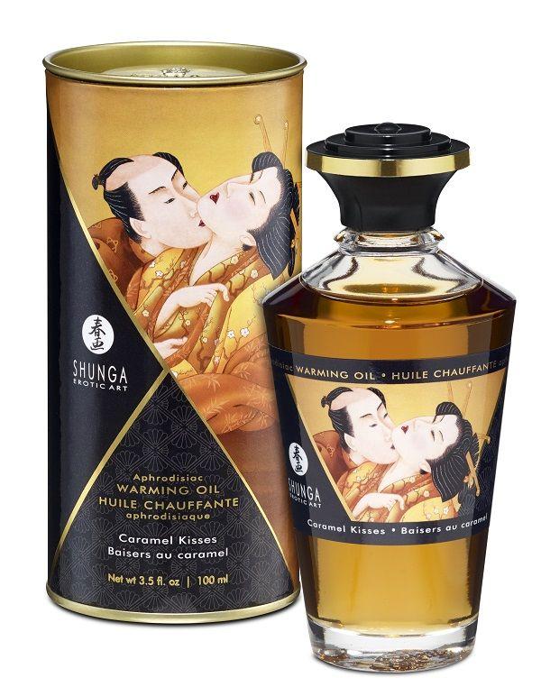 Массажное интимное масло с ароматом карамели - 100 мл. - фото 230812