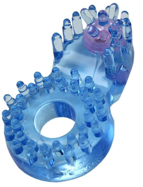 Кольцо с клиторальным язычком и шипиками - фото 1165868