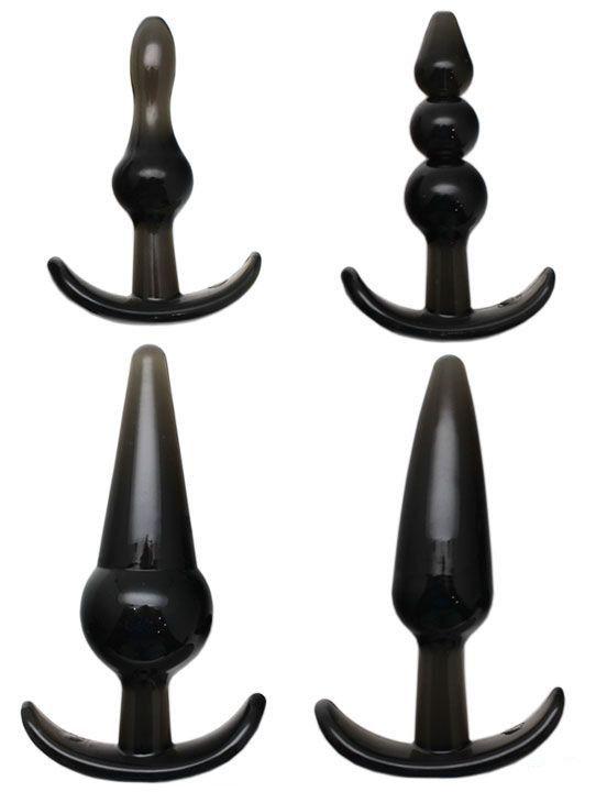 Набор из 4 анальных пробок для ношения