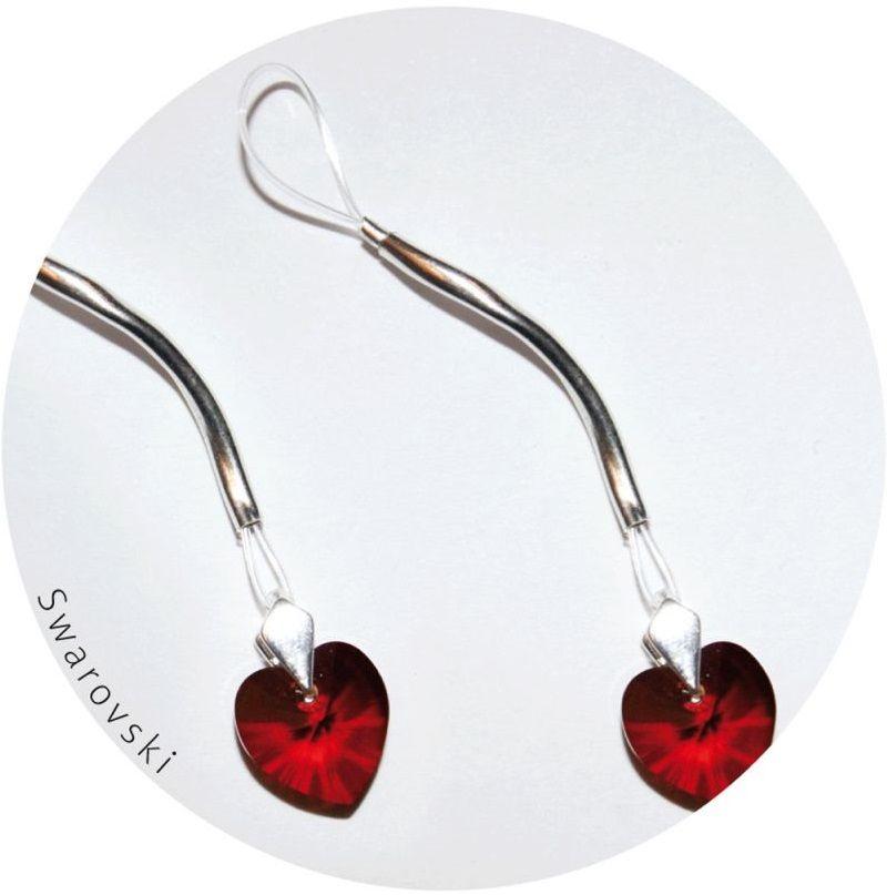 Украшение для груди с кристаллами Swarovski в форме сердца - фото 237492