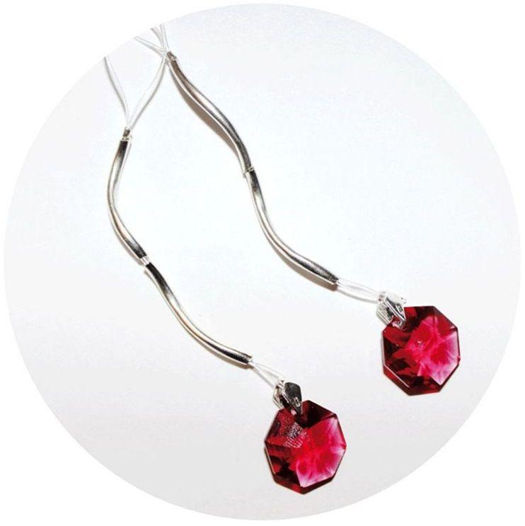 Украшение для груди с красными кристаллами Swarovski - фото 200510