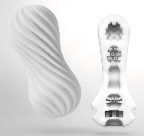 Мастурбатор FLEX Silky White с мягким рельефом - фото 655543
