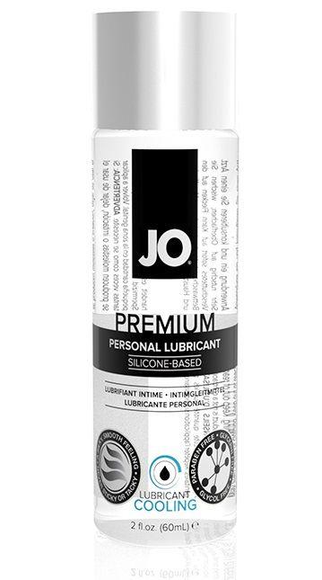 Охлаждающий лубрикант на силиконовой основе JO Personal Premium Lubricant Cooling - 60 мл.