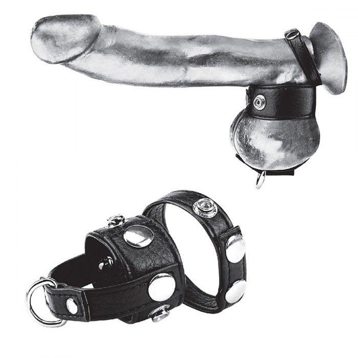 Утяжка для мошонки и пениса Cock Ring With 1  Ball Stretcher And Optional Weight Ring