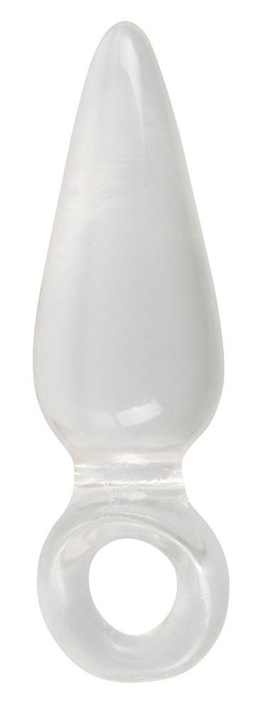 Анальная втулка с колечком на пальчик Finger Plug - 9,5 см. - фото 140984
