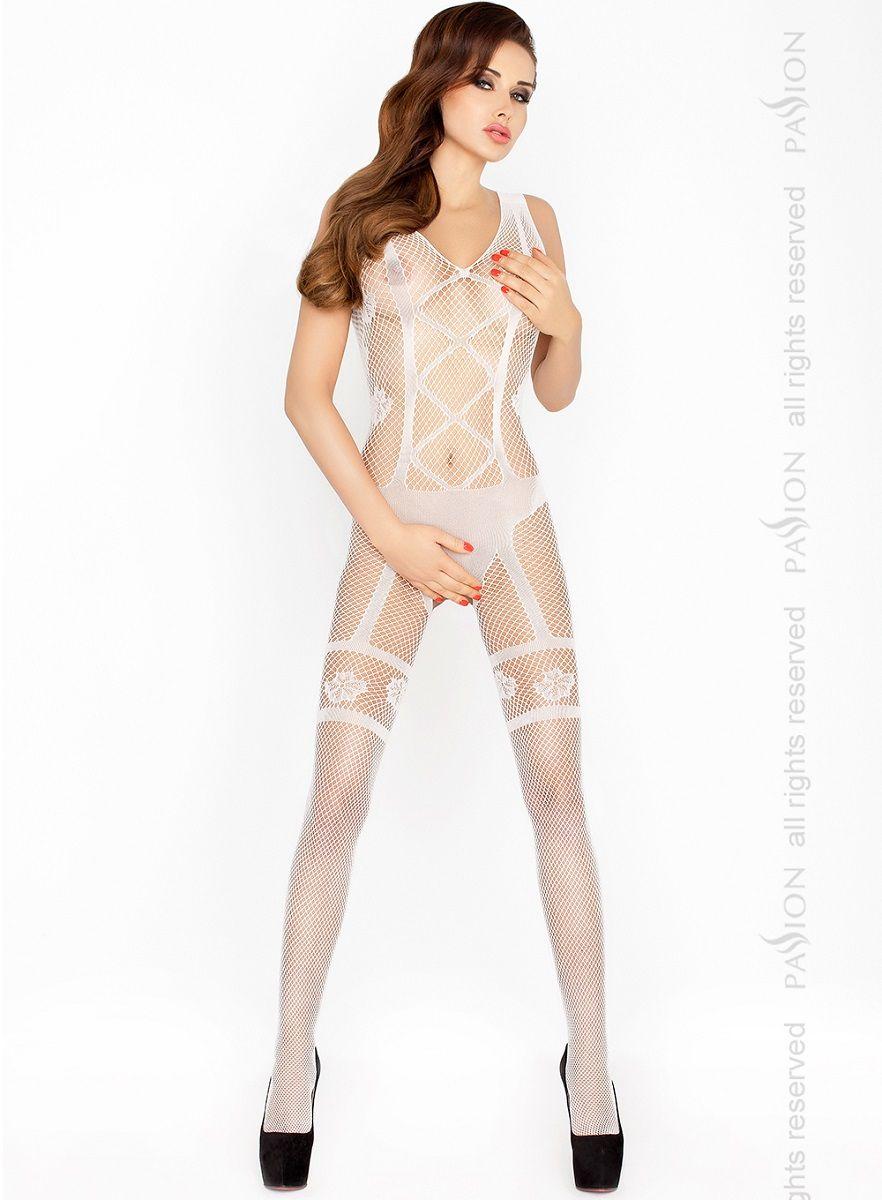 Изысканный костюм-сетка с имитацией комплекта нижнего белья - фото 156491