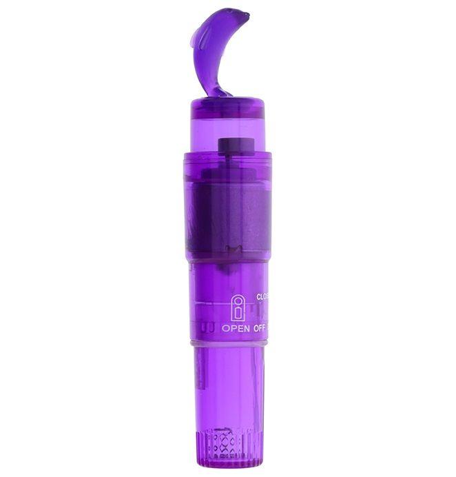 Фиолетовый клиторальный стимулятор-ракета с дельфином GOOD VIBES DOLPHIN VIBRATOR