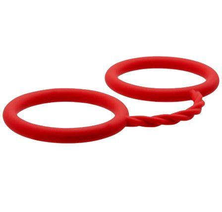 Красные силиконовые наручники BONDX SILICONE CUFFS