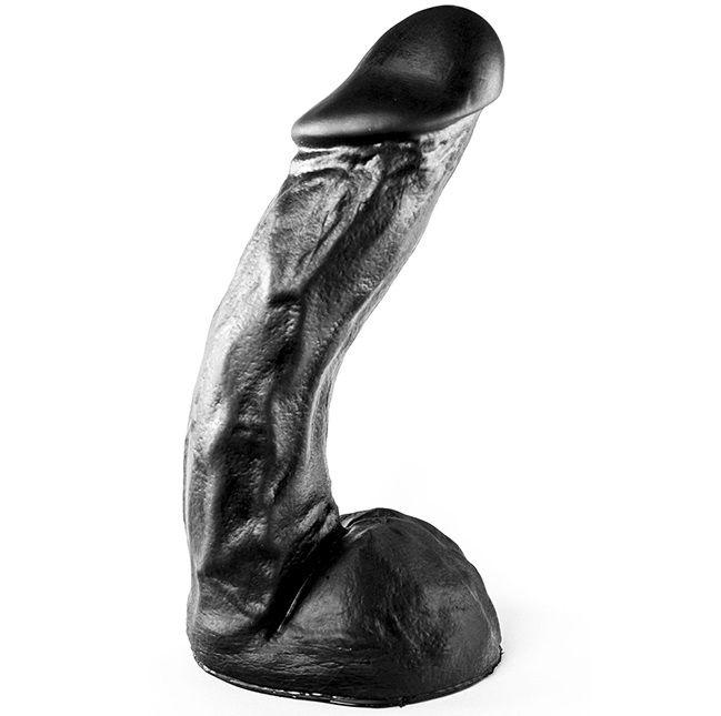Чёрный фаллоимитатор-гигант All Black - 27,5 см. - фото 251167