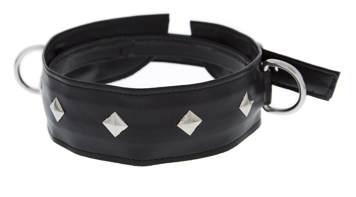 Полиуретановый ошейник с пуклями и D-кольцами Collar with Studs