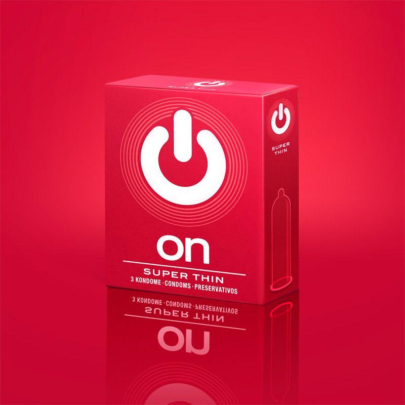 Супертонкие презервативы ON) Super Thin - 3 шт.