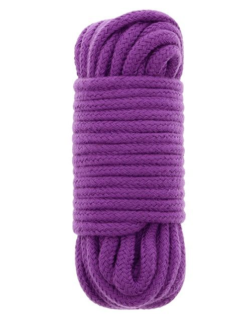 Фиолетовая хлопковая веревка BONDX LOVE ROPE 10M PURPLE - 10 м.