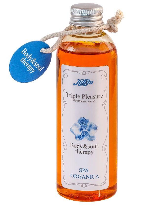 Массажное масло Triple Pleasure Spa Organica - 100 гр.