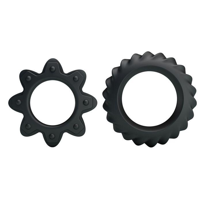 Набор ребристых эрекционных колец Ring Flowering - фото 143256