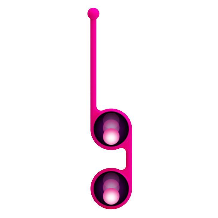 Ярко-розовые вагинальные шарики Kegel Tighten Up III - фото 158584