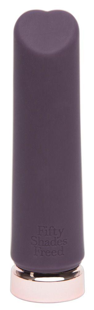 Фиолетовый мини-вибромассажёр Crazy For You Rechargeable Bullet Vibrator