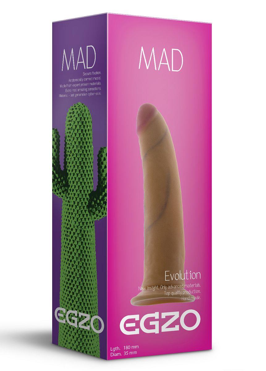 Телесный фаллоимитатор без мошонки Mad Cactus - 18 см. - фото 1542108