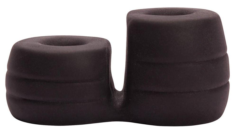 Широкое эрекционное кольцо с подхватом мошонки Thick Cock   Ball Ring - фото 325714