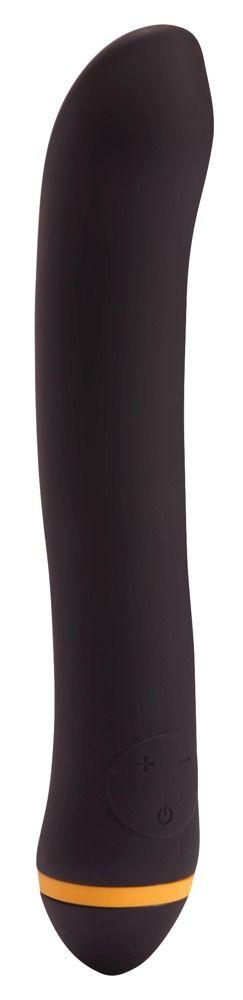 Чёрный вибратор для массажа G-точки Turbo G-Spot - 22,2 см.