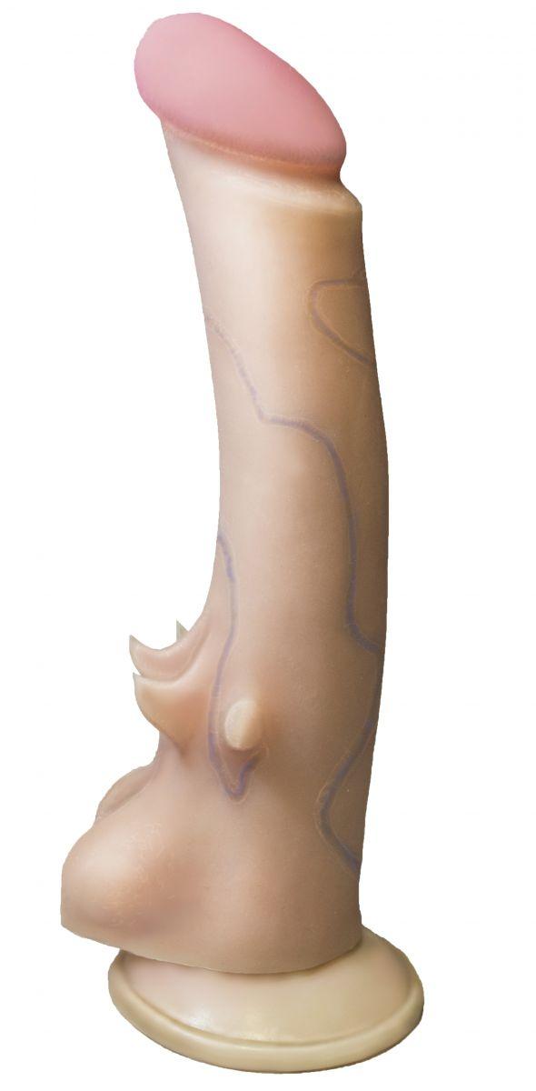 Вибратор REAL Standard на присоске - 15,5 см.