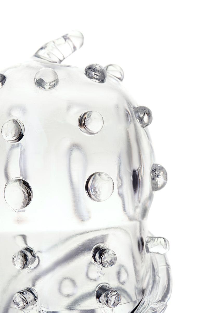Прозрачная насадка на пенис TOYFA A-Toys - 15,5 см. - фото 164837