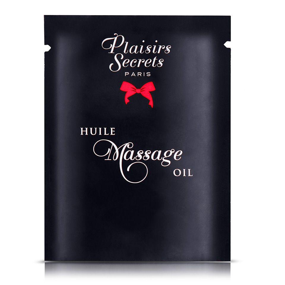 Массажное масло с ароматом клубники Huile de Massage Gourmande Fraise des Bois - 3 мл.