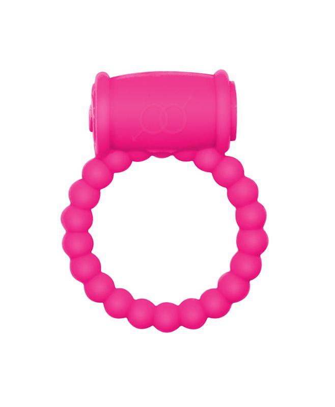 Розовое эрекционное кольцо Rings Drums - фото 241256