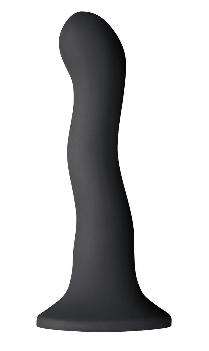 Чёрный волнистый фаллоимитатор Shi/Shi Ripple 6  Dildo - 19 см. - фото 226920