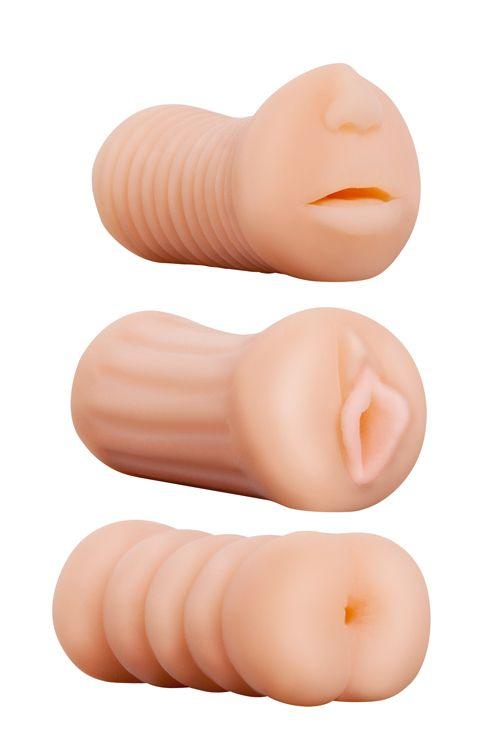 Набор из 3 мастурбаторов LIFELIKE STROKER SET - фото 1178732