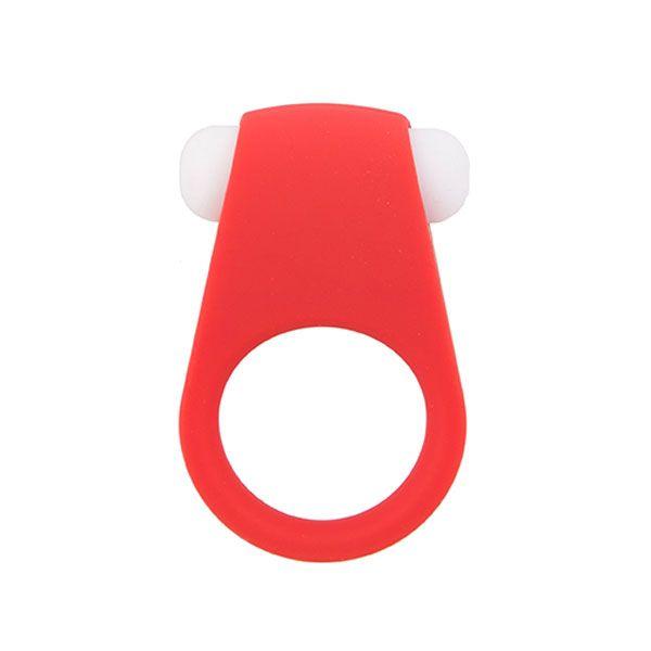 Красное эрекционное кольцо LIT-UP SILICONE STIMU RING 4 - фото 1551030