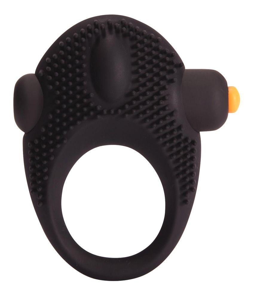 Чёрное эрекционное кольцо с вибрацией Vibrating Cock Ring