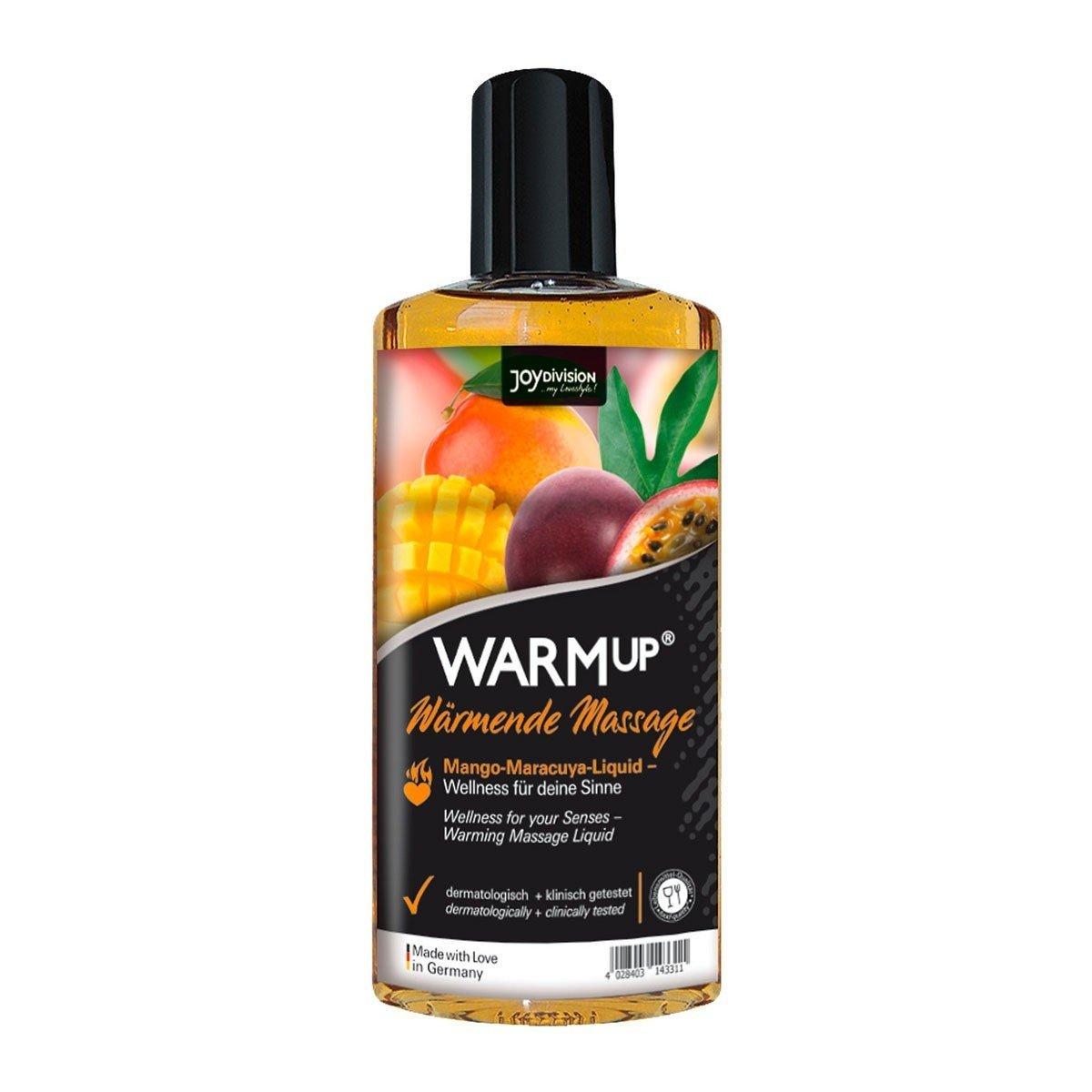 Разогревающий массажный гель Joy Division WARMup с ароматом манго и маракуйи - 150 мл.